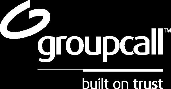 Groupcall logo white