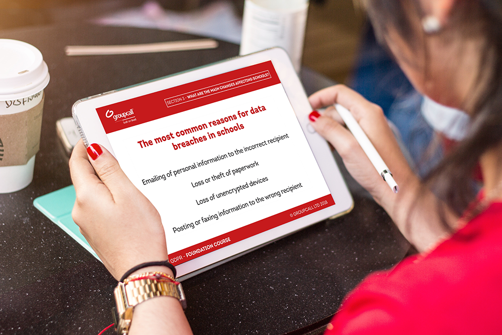 Groupcall GDPR e-learning for schools